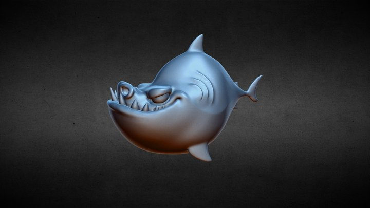 CGCookie Exercise: Sculpting a Shark 3D Model