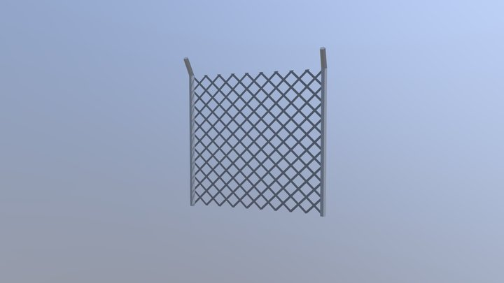 Wire Fence 3D Model