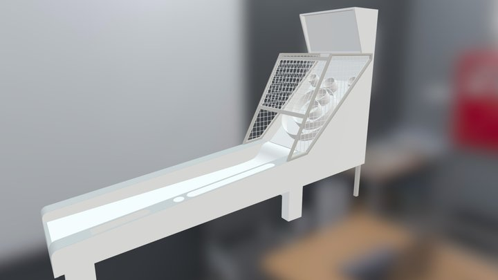 Skee-Ball Machine 3D Model