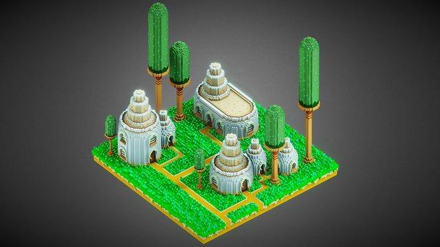 Talaak Village - Voxel art 3D Model