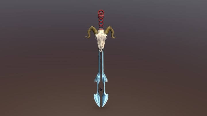 Satanic Sword 3D Model