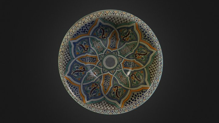 Mikhat- Moroccan Sink 3D Model