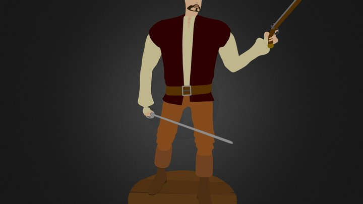 Pirate Elric 3D Model