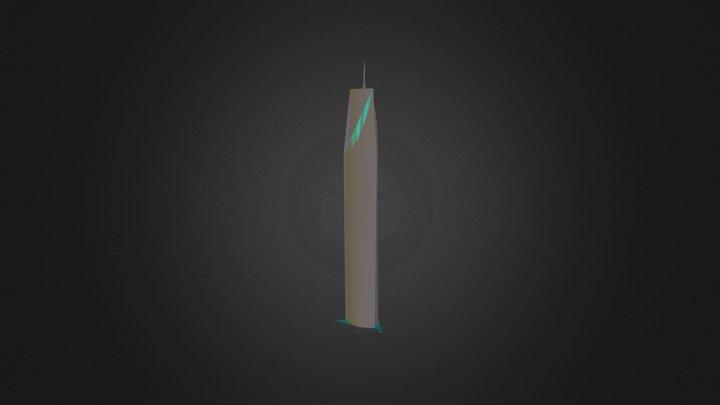 immeuble long bleu.zip 3D Model