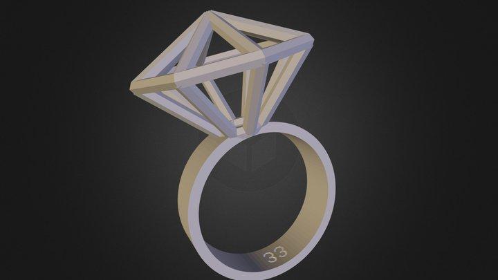 Rock the Diamond Ring 3D Model
