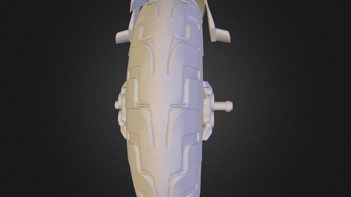 Jackal Black Front Wheel.obj 3D Model