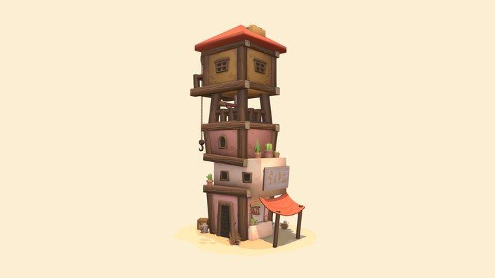 Desert Shop 3D Model