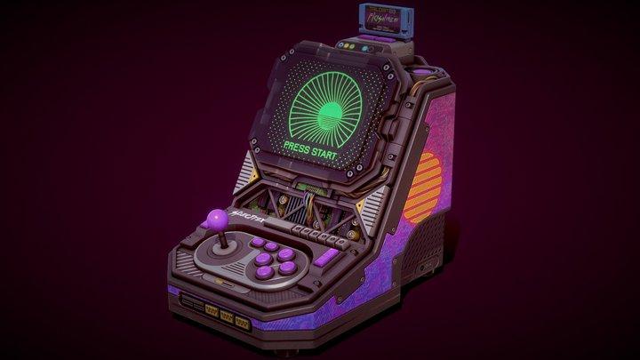 Cyberpunk Arcade Unit 3D Model