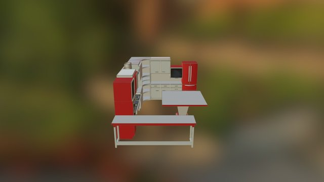 Cuisine PMR 3D Model
