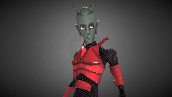 Alien Character 3D Model