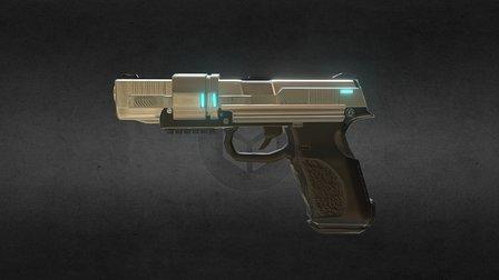 HZK-Strom Handgun 3D Model