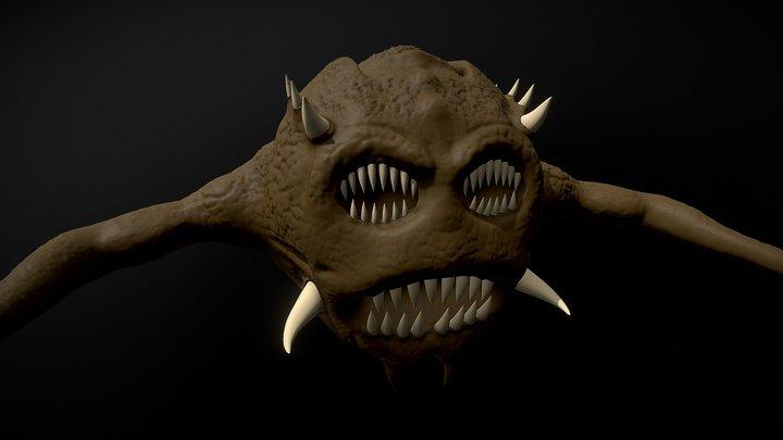Monster Concept Sculpt 3D Model