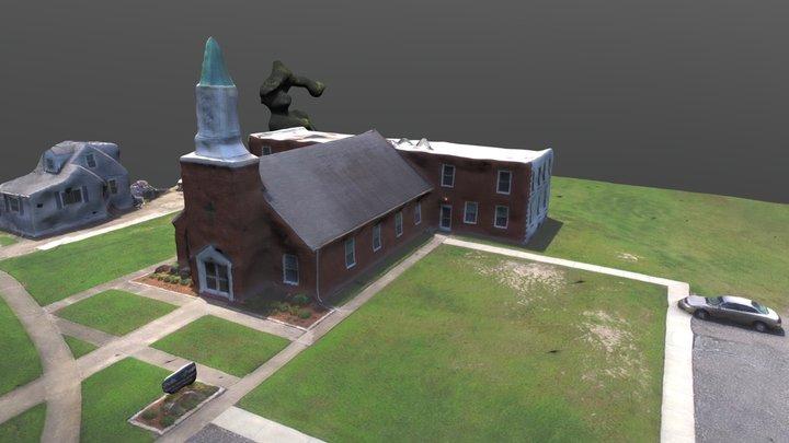 Church from aerial photos 3D Model