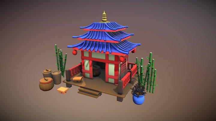 Japanese Hut 3D Model