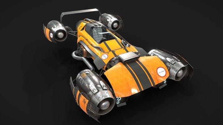 Sport flying car 3D Model