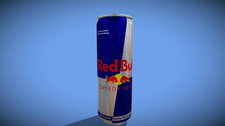 RED BULL ENERGY DRINK CAN 3D Model
