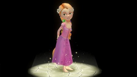 Rapunzel from Disney's Tangled 3D Model