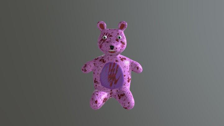 Scared Bear 3D Model