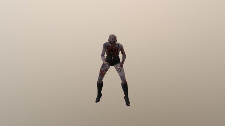 Zombie Brenda 3D Model