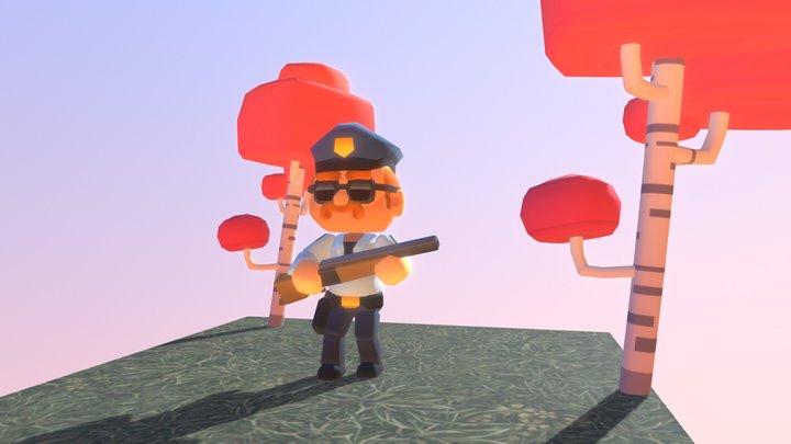 Police-office-SC Bitgem3D 3D Model