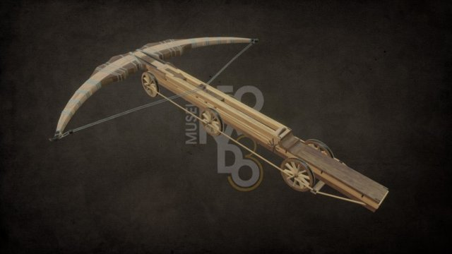 L3 Machines Collection - Giant Crossbow 3D Model