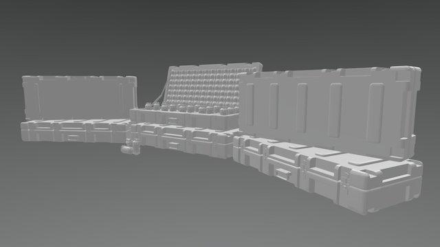 Military Grenade cache 3D Model