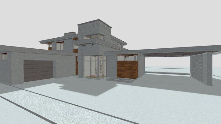 Двухэтажный дом в с кинотеатром 3D Model