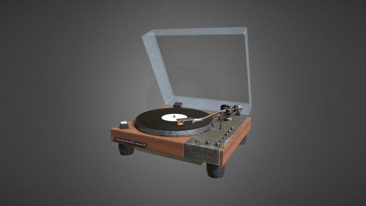 Classic Vinyl Player 3D Model