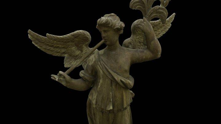 An Angel with a palm leaf, Martna church 3D Model
