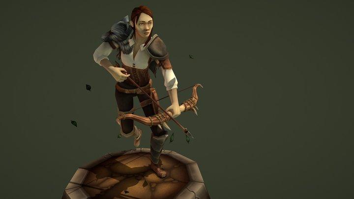 Village Character - Hunter 3D Model