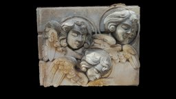 Funeral metope with cherubs 3D Model