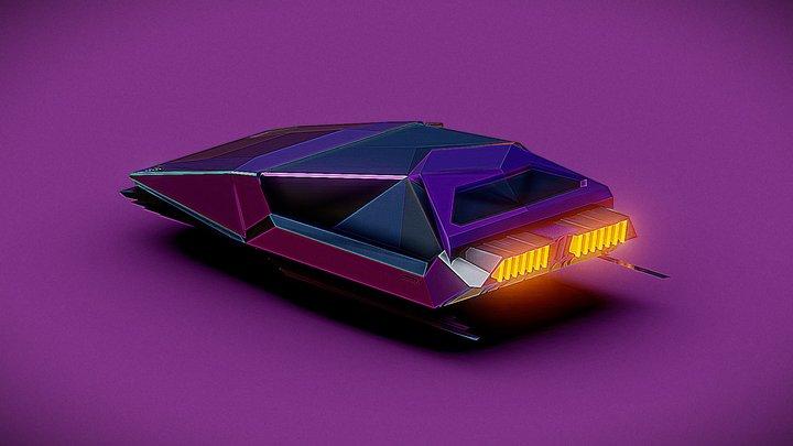 blnk-100 concept hovering car 3D Model