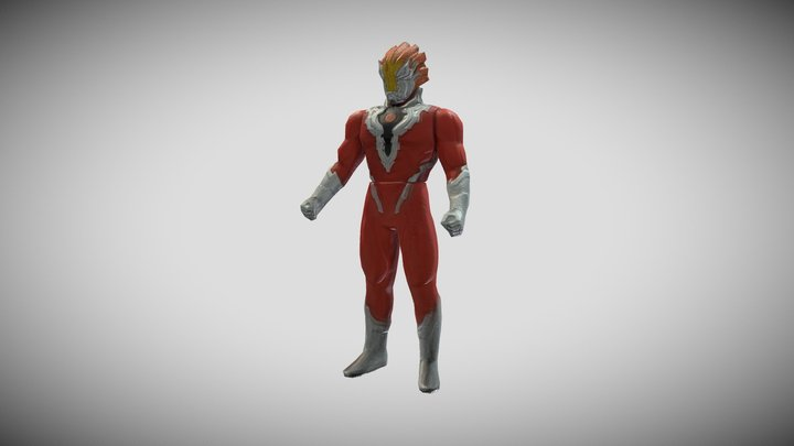<!--Day17--> Ultraman GrenFire PVC Figure 3D Model