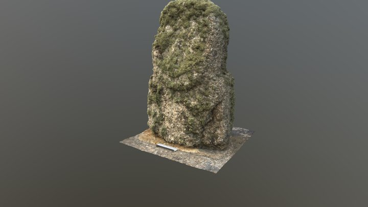 Statue-menhir, St Martins, Isles of Scilly 3D Model