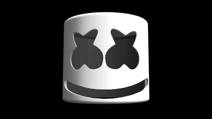 Marshmello Mask 3D Model