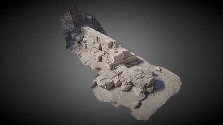 Base of the South Tower 3D Model