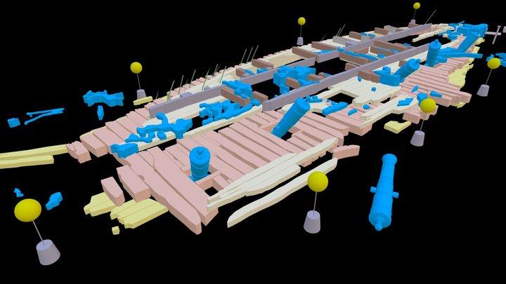 HMS Colossus Dive Trail: Interactive Site Plan 3D Model