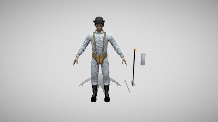 Alex Delarge - A Clockwork Orange 3D Model