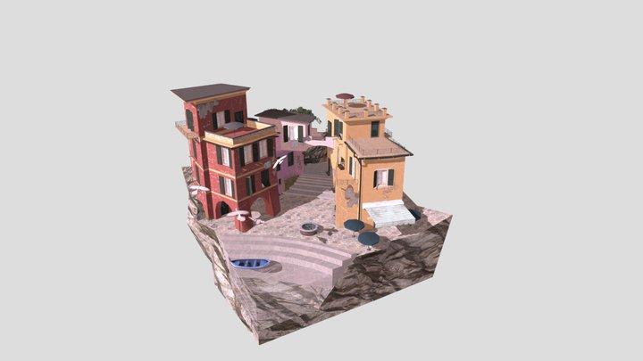 1DAE09 Fabri Rik 3DLP city scene - Cinque Terre2 3D Model