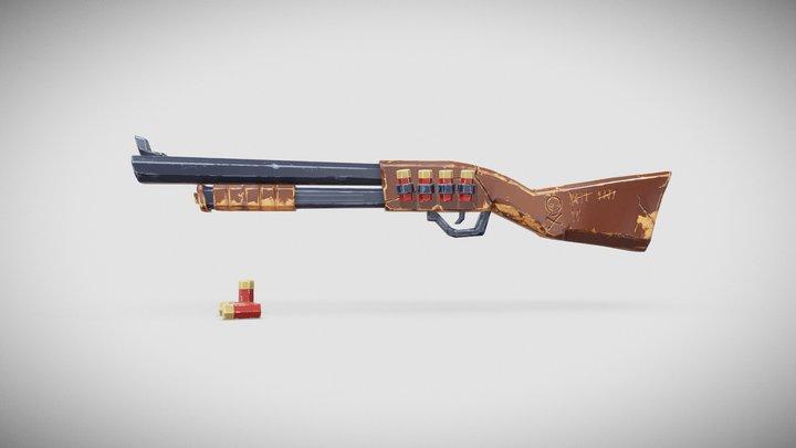Shotgun - Low Poly - Stylized Weapon 3D Model