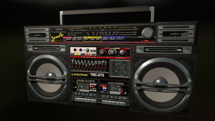 Retro TRC-975 Boombox 3D Model