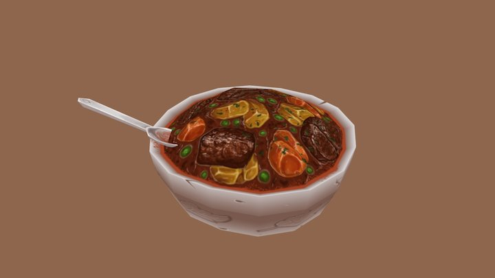 Soup Bowl 3D Model
