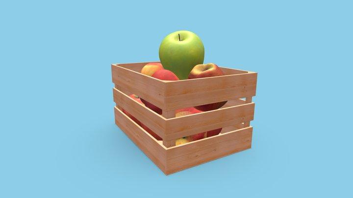 Basket Fruit 3D Model