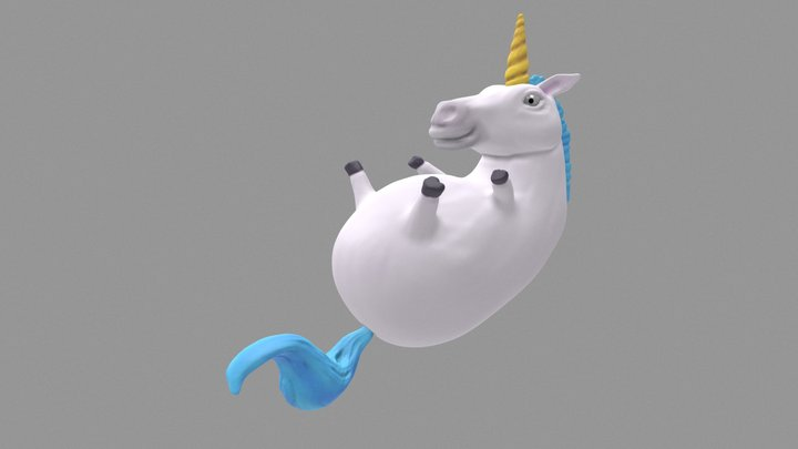 SculptJanuary 2017 - Unicorn 3D Model