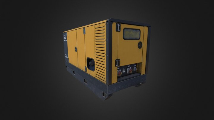 Stationary Diesel Generator 2 3D Model