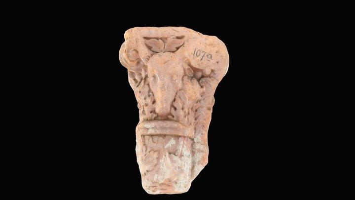 ram's head capital terracotta wallpanel Neuburg 3D Model