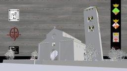 Recreació de l'església romànica de SPV 3D Model
