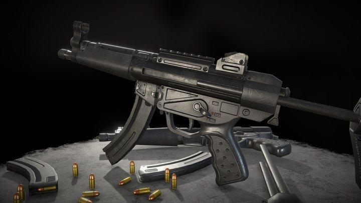 MP5 submachinegun 3D Model