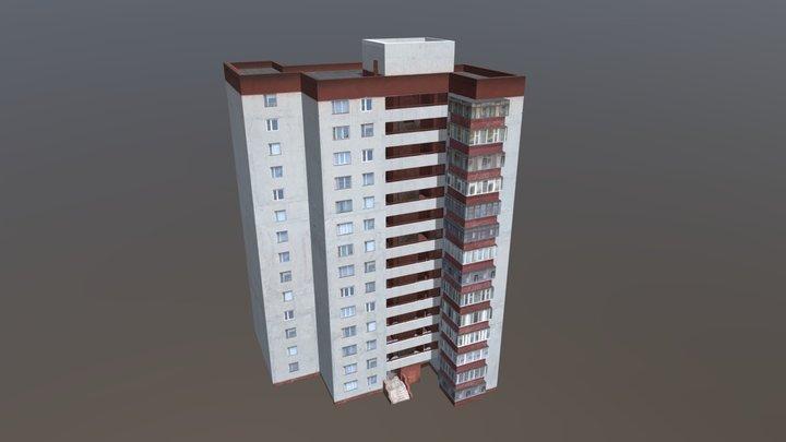 14 Storey City Building 3D Model