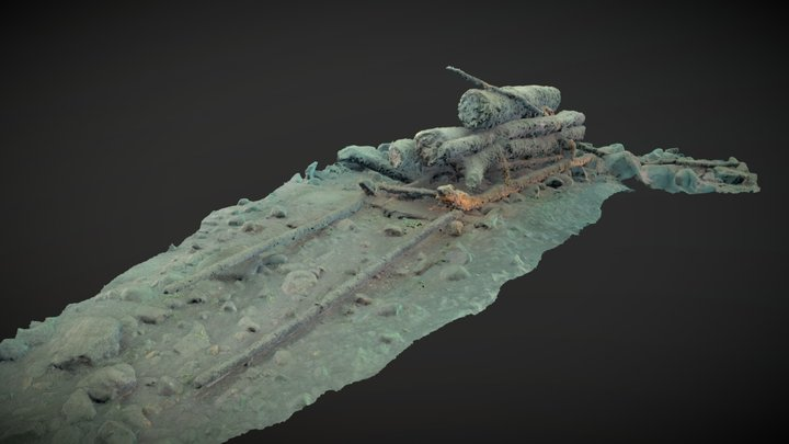 Wood Sleigh from Lac-des-Piles 3D Model